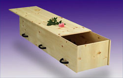 Sustainable Natural Wood Casket
