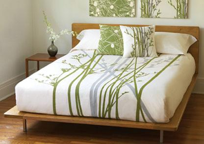 Amenity Cove Cream + Moss Organic Duvet Cover