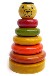sustainable wooden stacker toy
