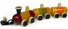 eco friendly wooden toy train