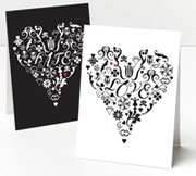 whimsy press love hate greeting card
