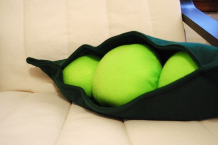 pea pod bolster pillow