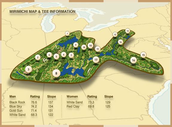 mirimichi course map