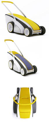 solar powered electric mower