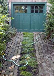 Brick green driveway