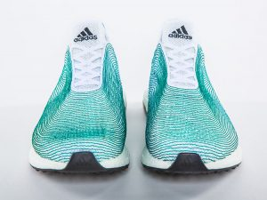 shoes knitted from ocean plastic