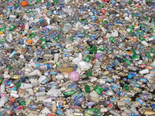 Floating Plastic Bottle Trash