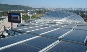 solar panel stadium