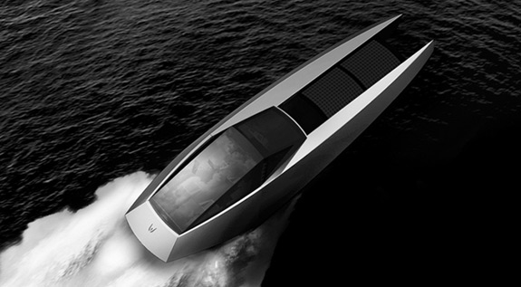 code-x solar powered speed boat